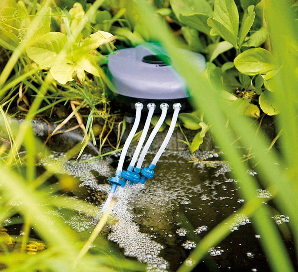technika do záhradného jazierka: vzduchovadlo