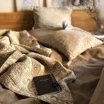 vzorované ľanové posteľné obliečky od Abreadbag