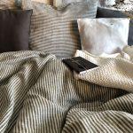 Ľanové posteľné obliečky s pásikmi od Abreadbag