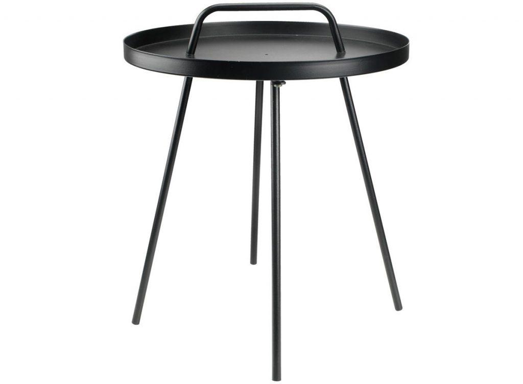 oceľový čierny stolík