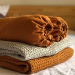Ľanová plachta v oranžovej farbe od Abreadbag