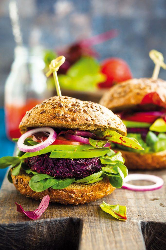 vegan hamburger z cvikle