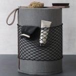taburetka do kúpeľne s úložnou sieťkou
