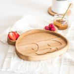 Ručne vyrobená drevená miska Panda