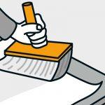 Ako nalepiť papierovú tapetu: nanesenie lepidla na tapetu