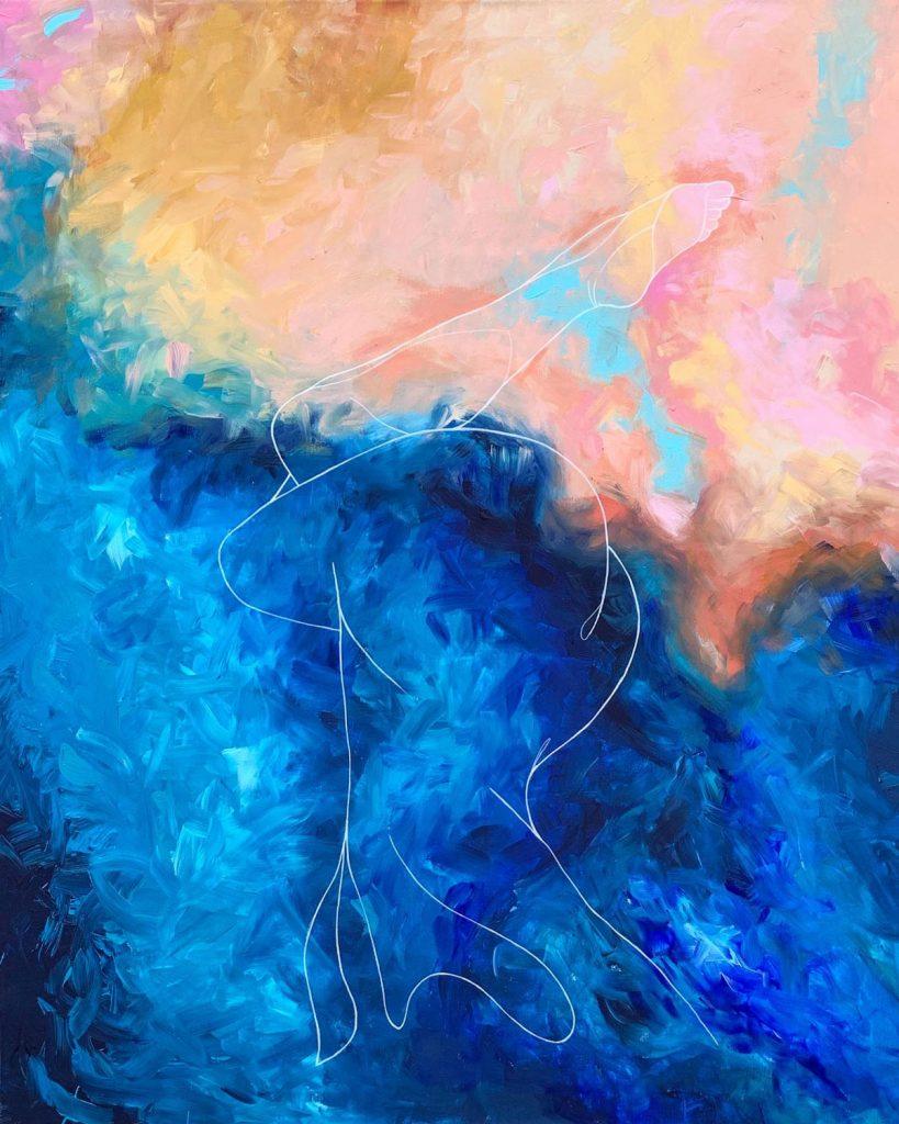 Abstrakcia s figuratívnym motívom ženského tela