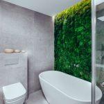 Kúpeľňa s machovou stenou