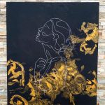 abstraktný obraz s motívom ženy