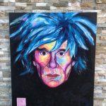 maľovaný portrét Andyho Warhola od Patrika Koprivňanského