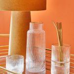 Narodeninová kolekcia Capsule sklenené nádoby so zlatým okrajom
