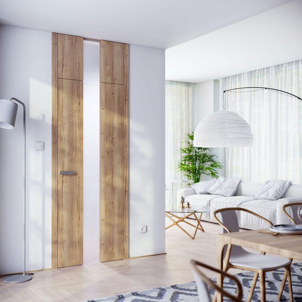 interiér s dverami s nadsvetlíkom