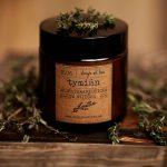 Tymiánová aromaterapeutická sójová sviečka v skle