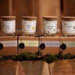 Prírodné sójové sviečky v skle s krabičkami