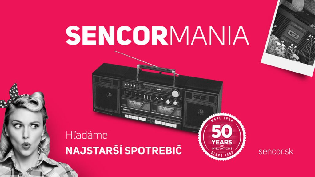 SENCORMÁNIA hľadá najstarší spotrebič Sencor. Zapojte aj ten svoj!