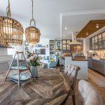 Otvorená kuchyňa s obývačkou v toskánskom štýle
